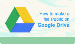 How to make a file Public on Google Drive