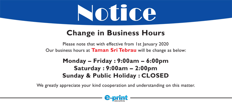Taman Sri Tebrau Business Hours