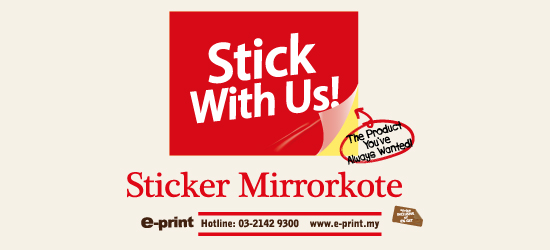 Mirrorkote sticker
