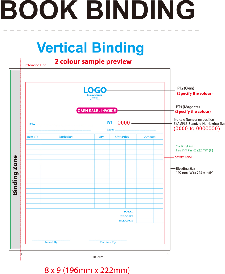 download ncr bill book template