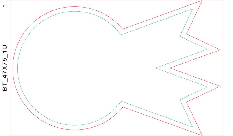 download die cut stickers template medal shape